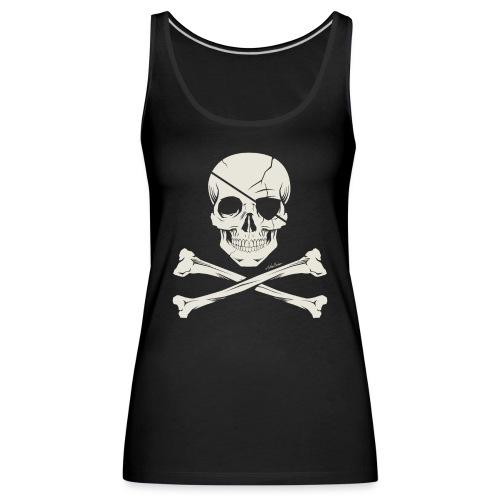 skull vector - Camiseta de tirantes premium mujer