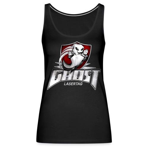 ghost textur schwarzes shirt - Frauen Premium Tank Top