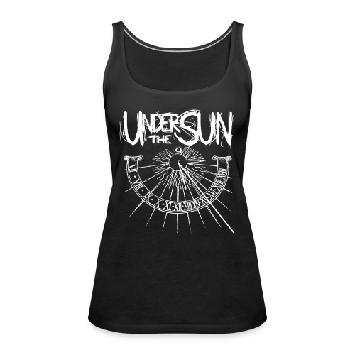 Sundial White on Black png - Women's Premium Tank Top