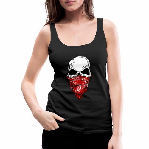 Bandit Skull - Naisten premium hihaton toppi