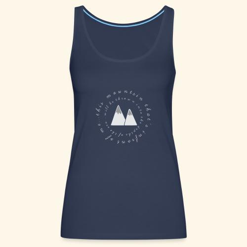 this mountain white 2 - Women's Premium Tank Top