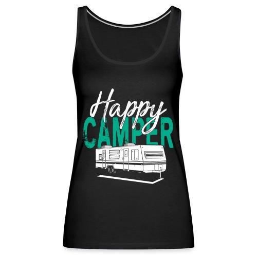 Happy Camper T Shirt Retro Camping Trailer - Frauen Premium Tank Top