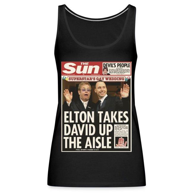 Elton Takes David Up The Aisle FP C