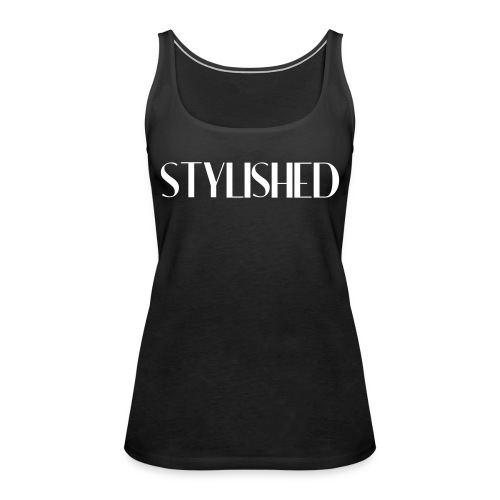 stylished logo pink - Frauen Premium Tank Top