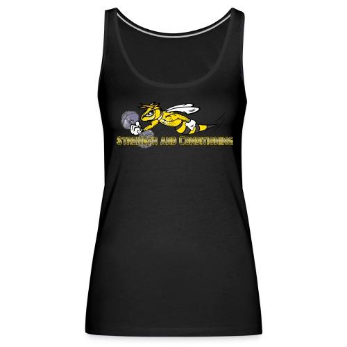 Musclestinger font2 Kopie png - Frauen Premium Tank Top