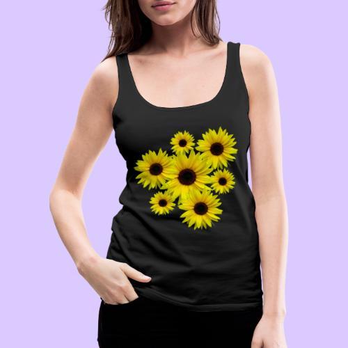 Sonnenblumenstrauß, Sonnenblumen, Blumen, Blüten - Frauen Premium Tank Top