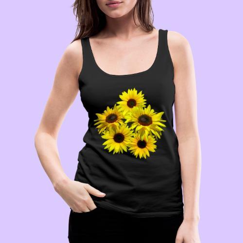Sonnenblumenstrauss, Sonnenblume, Sonnenblumen - Frauen Premium Tank Top