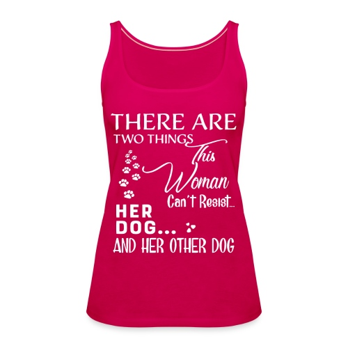 Her dog and her other dog shirt - Women's Premium Tank Top