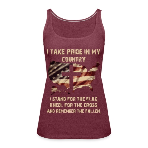 I take pride in my country - Women's Premium Tank Top