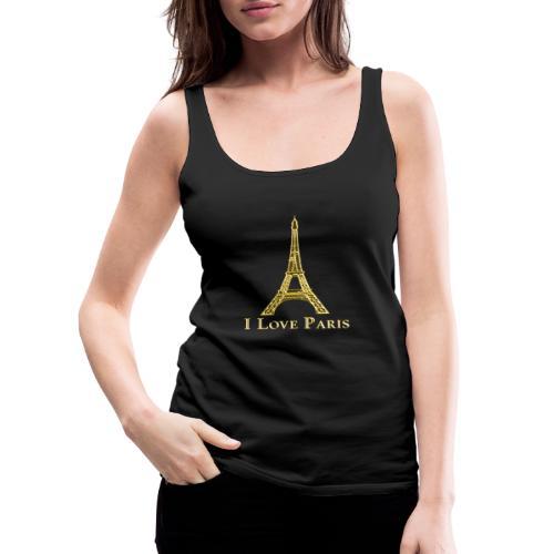 Design Paris I love paris - Débardeur Premium Femme