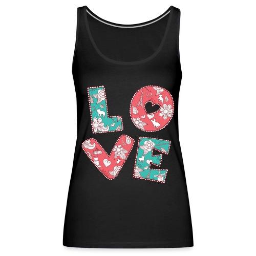 loveblume2 png - Frauen Premium Tank Top