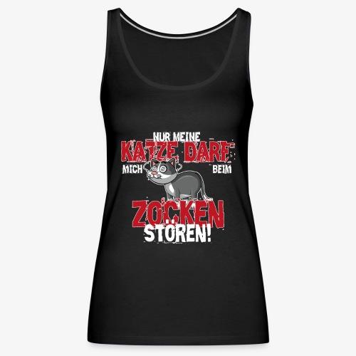Gamer T-Shirt Katze zocken Gaming - Frauen Premium Tank Top