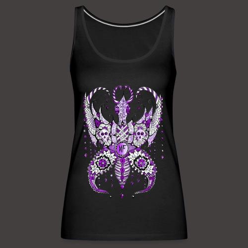 Papillon Lilou Violet - Débardeur Premium Femme