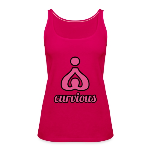 '' CURVIOUS '' PINK / BLACK - Women's Premium Tank Top
