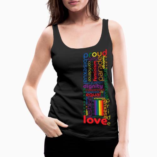Pride Word Design - Women's Premium Tank Top