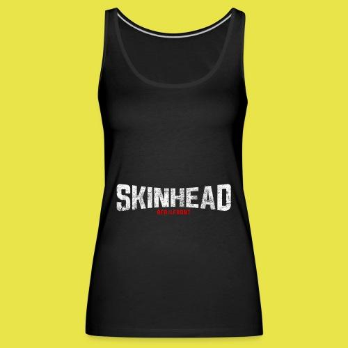 Skinhead – Red Front - Women's Premium Tank Top