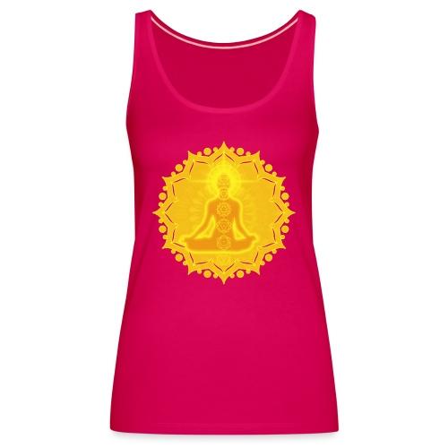 Yoga Lotus Meditation Chakren III - Frauen Premium Tank Top