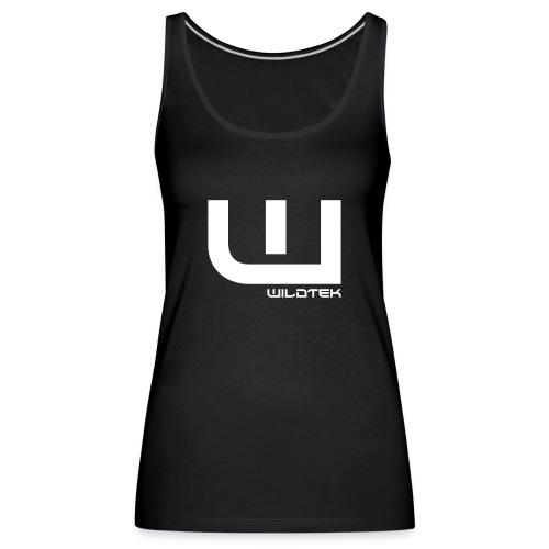 Wildtek Logo White - Women's Premium Tank Top