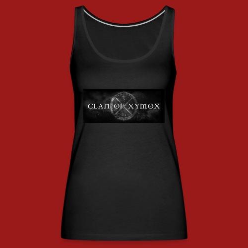 Small Logo Clan Of Xymox - Women's Premium Tank Top