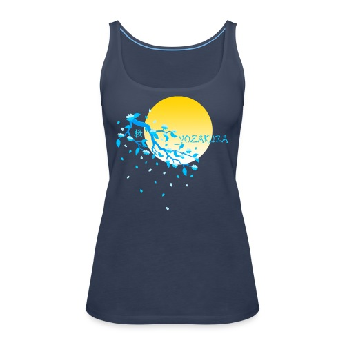 Cherry Blossom Festval Full Moon 2 - Frauen Premium Tank Top