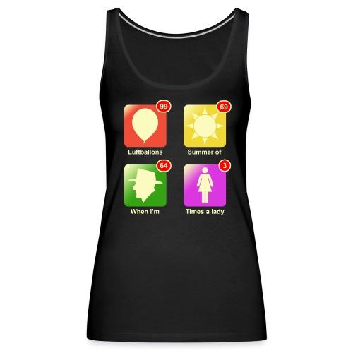 Muziek apps - Vrouwen Premium tank top