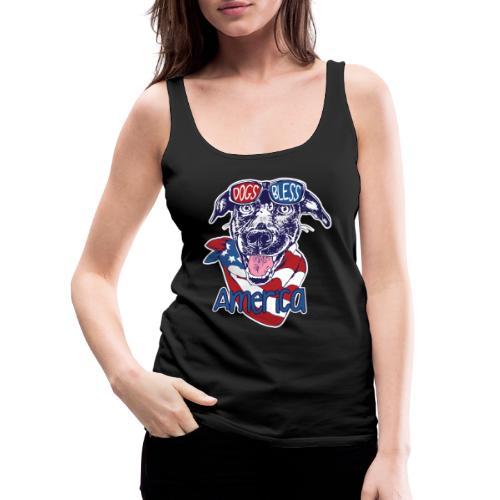 Hund und Hunde segnen Amerika Illustration - Frauen Premium Tank Top