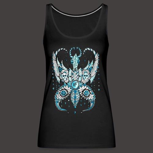 Papillon Lilou Turquoise - Débardeur Premium Femme