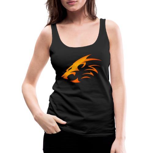 Rian The Lion Orange Logo - Premiumtanktopp dam