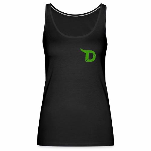 TeamDino's Green Logo - Women's Premium Tank Top