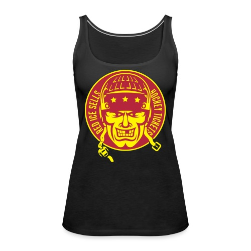 red_ice_sells_hockey_tick - Women's Premium Tank Top