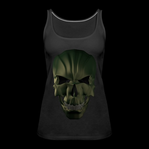 Grim Skull 3D - Tank top damski Premium