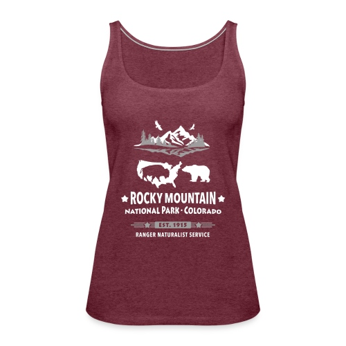 Rocky Mountain Nationalpark Berg Bison Grizzly Bär - Women's Premium Tank Top