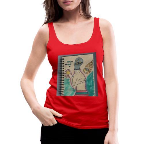 Alien conspirando - Camiseta de tirantes premium mujer