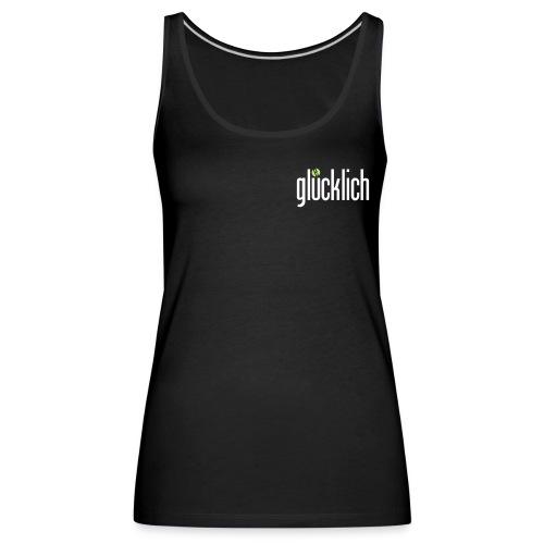 gluecklich logo dunkelgruen - Frauen Premium Tank Top