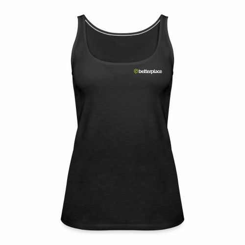 betterplace_Logo_neg_grue - Frauen Premium Tank Top