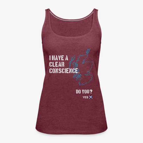 Clear Conscience - Women's Premium Tank Top