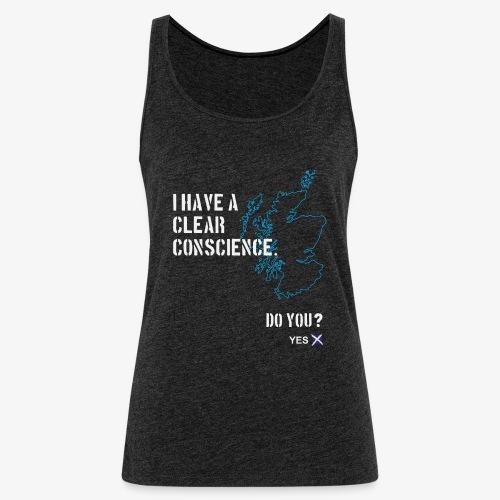 Clear Conscience - Women's Premium Tank Top