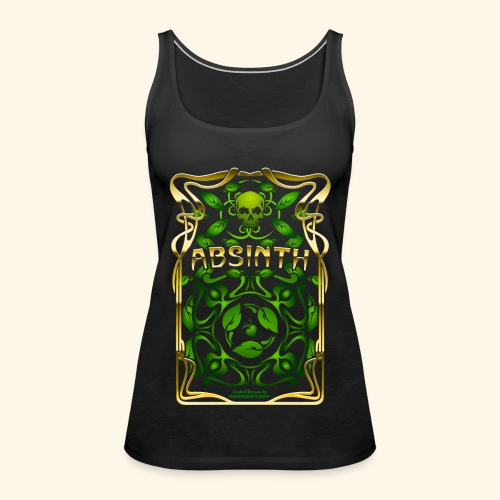Absinth Art Nouveau T Shirt Design - Frauen Premium Tank Top