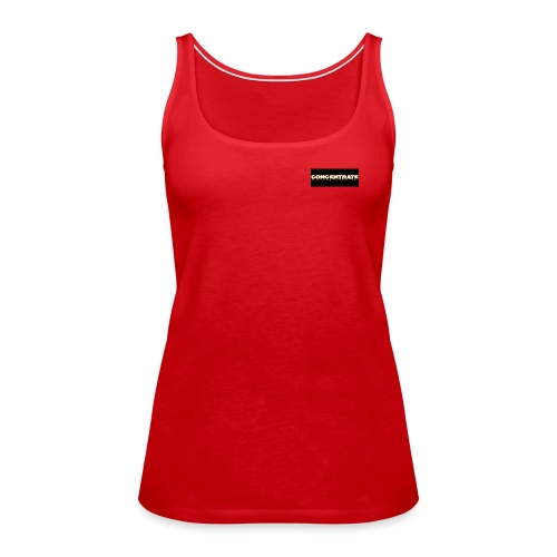 Concentrate on black - Women's Premium Tank Top