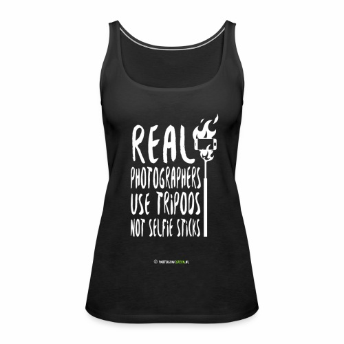 Real photographers use tripods - v2.0 - Vrouwen Premium tank top