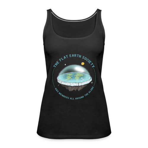 flat earth threadless - Women's Premium Tank Top