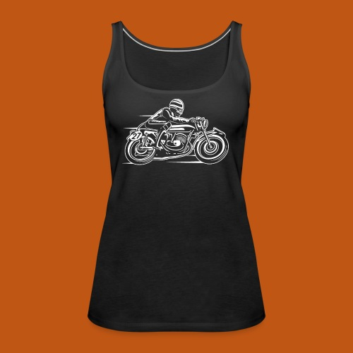Cafe Racer Motorrad 03_weiß - Frauen Premium Tank Top