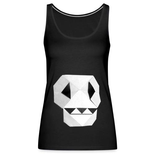 Origami Skull - Skull Origami - Calavera - Teschio - Women's Premium Tank Top