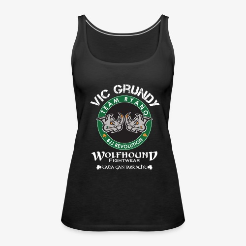 vic grundy back white png - Women's Premium Tank Top