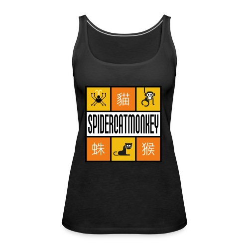 Band-Logo SPIDERCATMONKEY, orange - Frauen Premium Tank Top