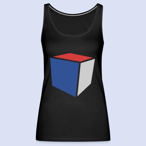 Cube Minimaliste - Débardeur Premium Femme