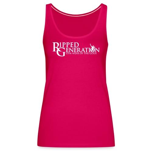 Ripped Generation Tekstilogo - Naisten premium hihaton toppi