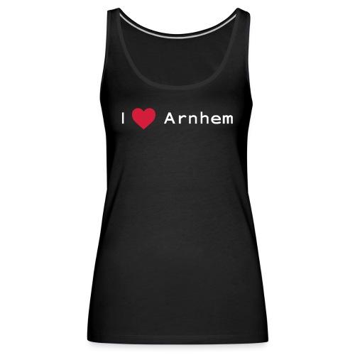 I love Arnhem wit - Vrouwen Premium tank top