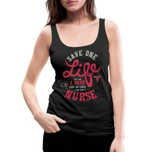 Vintage hero nurse - Naisten premium hihaton toppi