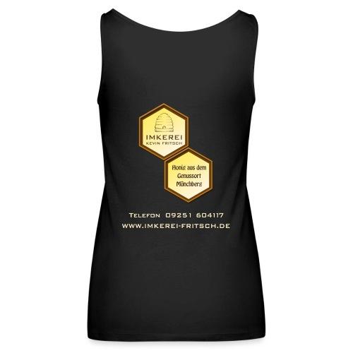 Shirt Imkerei Fritsch, 2 Waben hinten, vorne Logo - Frauen Premium Tank Top